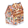 Alexander Taron Metal Gingerbread House Advent Calendar Ornament
