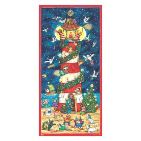 Alexander Taron Light House Advent Calendar Winter Scene Indoor Christmas Decoration