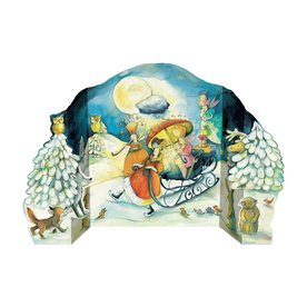 Alexander Taron Advent Calendar Sleigh Indoor Christmas Decoration