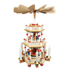 Alexander Taron Wood Santa 3-Tier Pyramid Ornament