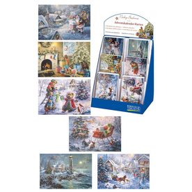 Alexander Taron 60-Pack Advent Calendar Cards with Display Box Ornaments