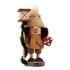 Alexander Taron Wood Gingerbread Boy with Lantern Ornament