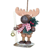 Alexander Taron Wood Elk Natural Christmas Ornament Ornament