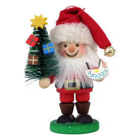 Alexander Taron Wood Santa Painted Hanging Ornament Ornament