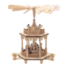 Alexander Taron Wood Nativity Natural Pyramid Ornament