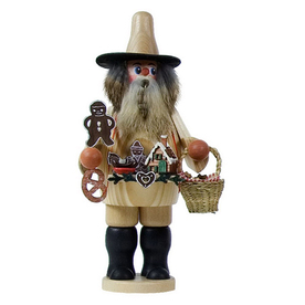 Alexander Taron Wood Gingerbread Vendor Smoker Ornament