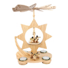 Alexander Taron Wood Star Angels Pyramid Ornament