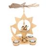 Alexander Taron Wood Star Angels Pyramid Ornament