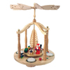 Alexander Taron Wood Tea Candle Eve Pyramid Ornament