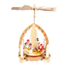 Alexander Taron Wood Snowman Natural Pyramid Ornament