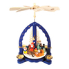 Alexander Taron Wood Santa Nick Blue Pyramid Ornament