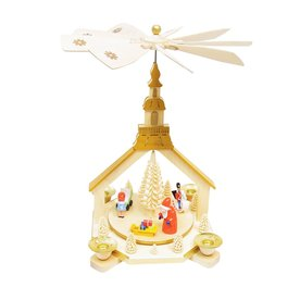 Alexander Taron Wood Santa Pyramid Ornament