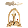Alexander Taron Wood Nativity Angel Pyramid Ornament