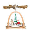 Alexander Taron Wood Snowman Pyramid Ornament