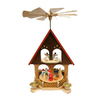 Alexander Taron Wood Santa with Angels Ornament