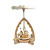 Alexander Taron Wood Angel Natural Pyramid Ornament
