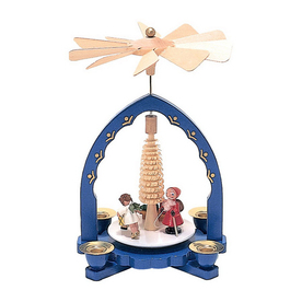 Alexander Taron Wood Saint Nick Blue Pyramid Ornament