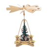 Alexander Taron Wood Angels Natural Pyramid Ornament
