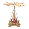 Alexander Taron Wood Santa Natural Pyramid Ornament