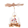 Alexander Taron Wood Snowmen Pyramid Ornament