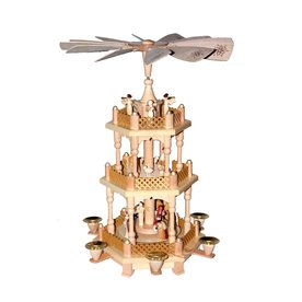 Alexander Taron Wood Nativity Pyramid Ornament