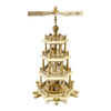 Alexander Taron Wood Natural 4-Tier Pyramid Ornament