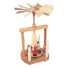 Alexander Taron Wood Santa and Snowman Pyramid Ornament