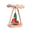 Alexander Taron Wood Mini Santa Pyramid Statue Ornament