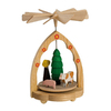 Alexander Taron Wood Mini Farm Scene Pyramid Ornament