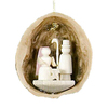 Alexander Taron Wood Nutshell Nativity Ornament