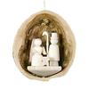 Alexander Taron Wood Nativity Nutshell Ornament