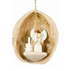 Alexander Taron Wood Nutshell Angel Ornament