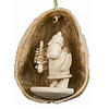 Alexander Taron Wood Nutshell Santa Ornament