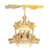 Alexander Taron Wood Nativity Colonel Pyramid Ornament