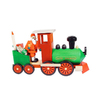 Alexander Taron Wood Santa In Train Smoker Statue Ornament