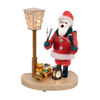 Alexander Taron Wood Lighted Santa Lantern 110-Volt Smoker Ornament