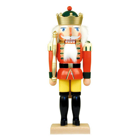 Alexander Taron Wood King Nutcracker Statue Ornament
