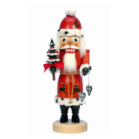 Alexander Taron Wood Santa Red Nutcracker Ornament