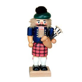Alexander Taron Wood Scotsman with Bagpipes Nutcracker Ornament