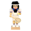 Alexander Taron Wood Tennis Player Nutcracker Ornament