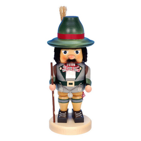 Alexander Taron Wood Happy Wanderer Nutcracker Ornament