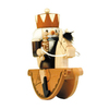 Alexander Taron Wood Rider King Natural Nutcracker Statue Ornament