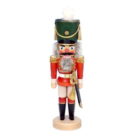 Alexander Taron Wood Red Soldier Stand Nutcracker Ornament 32-530