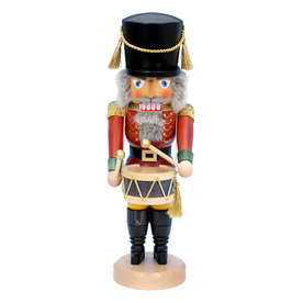 Alexander Taron Wood Musical Red Drummer Stand Nutcracker Ornament 32-531
