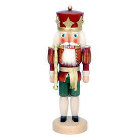 Alexander Taron Wood Red King Stand Nutcracker Ornament 32-532
