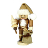 Alexander Taron Wood Santa Natural Nutcracker Ornament