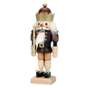 Alexander Taron Wood King Nat Gold Nutcracker Statue Ornament
