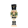 Alexander Taron Wood Musical Green Drummer Nutcracker Ornament