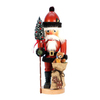 Alexander Taron Wood Santa and Teddy Bear Nutcracker Ornament