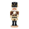Alexander Taron Wood Musical Drummer Soldier Natural Nutcracker Ornament